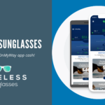 Pereless sunglasses purchased with On My Way app cash